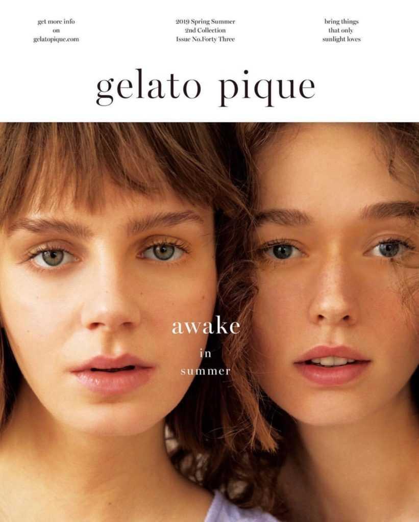 gelato pique<ジェラートピケ>夏のカタログ