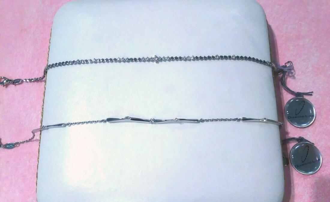 K18ホワイトゴールドブレスレット+ダイヤモンド(プリズム<PRISME>)